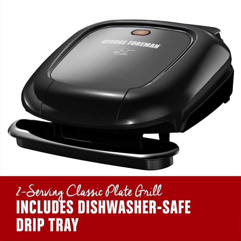 2-Serving Classic Plate Electric Indoor Grill and Panini Press FAST SHIPPING!