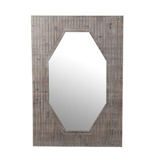 Union Rustic Brown Wooden Accent Wall Mirror