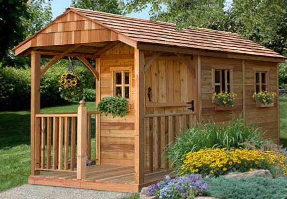 Outdoor Living Today 8 ft. W x 12 ft. D Solid Wood Storage Shed. Come explore She Shed Chic, Potting Shed & Backyard Inspiration.