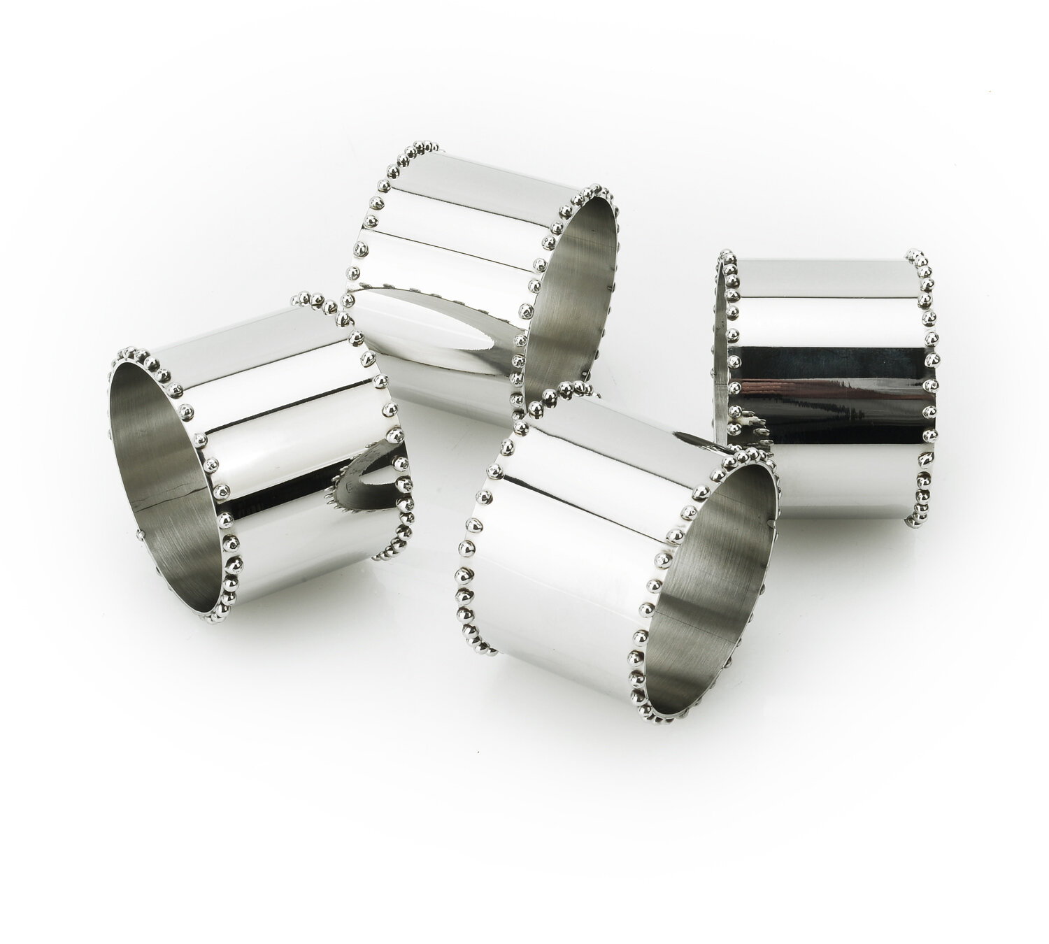The Holiday Aisle Southworth Beaded Stainless Steel Napkin Ring Wayfair