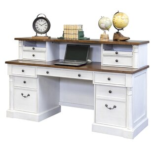 Chmura Solid Wood Desk with Hutch