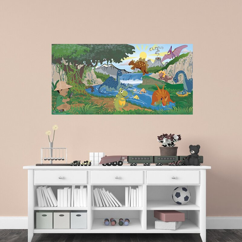Dinosaur Boy Hanging Wall Mural