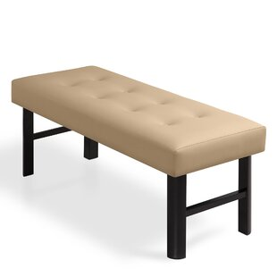 Haverhill 18 Tall Memory Foam Padded Bed Upholstered Bench by Charlton Home