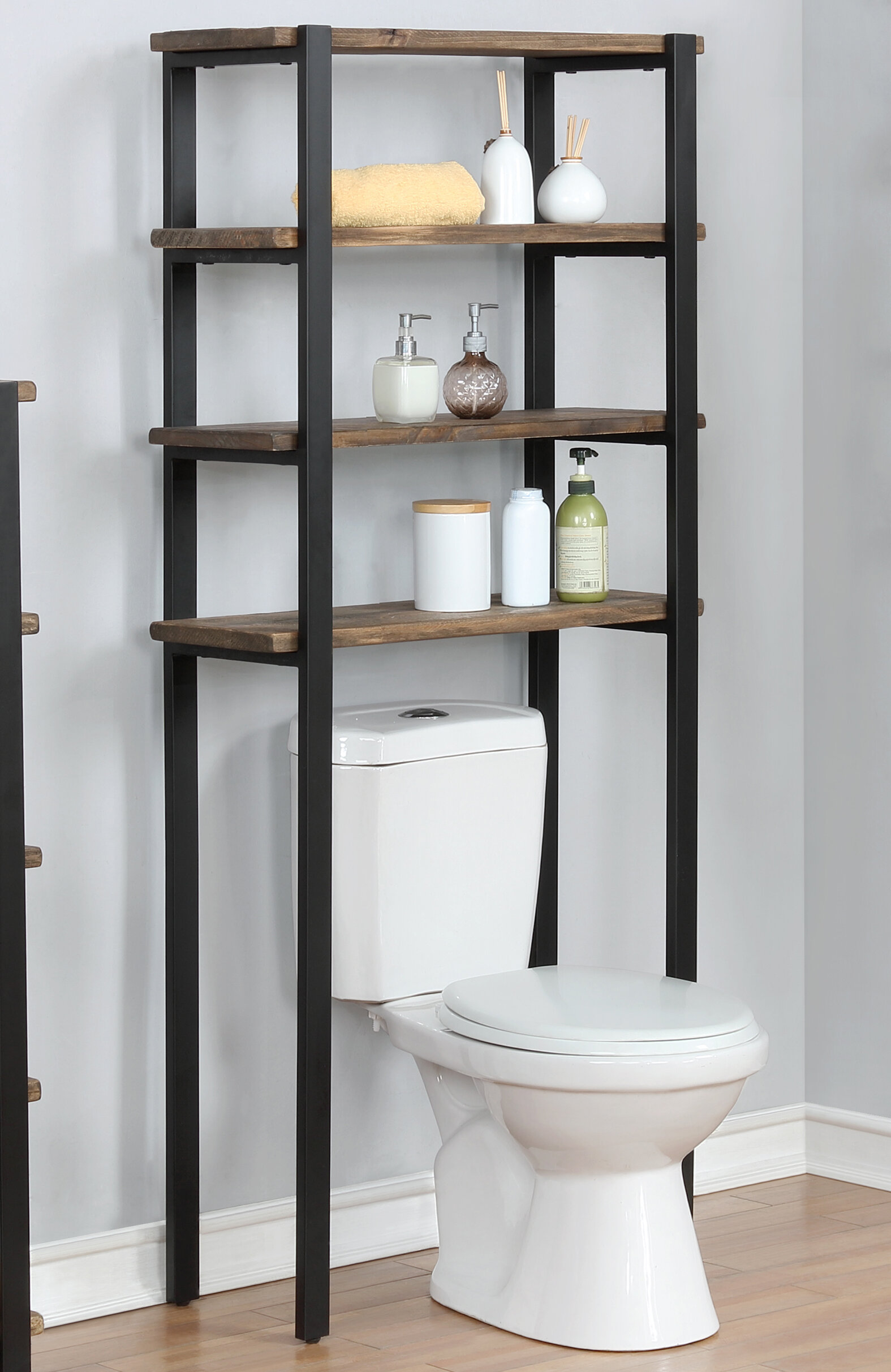 Trent Austin Design Steadman 29 W X 64 H X 12 D Solid Wood Over The Toilet Storage Reviews Wayfair