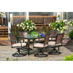 Burciaga 7 Piece Dining Set with Cushions by Darby Home Co