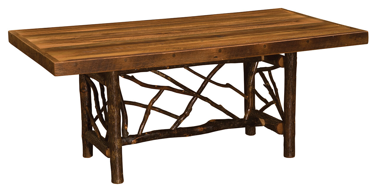 Fireside Lodge Hickory Twig Log Solid Wood Dining Table | Wayfair