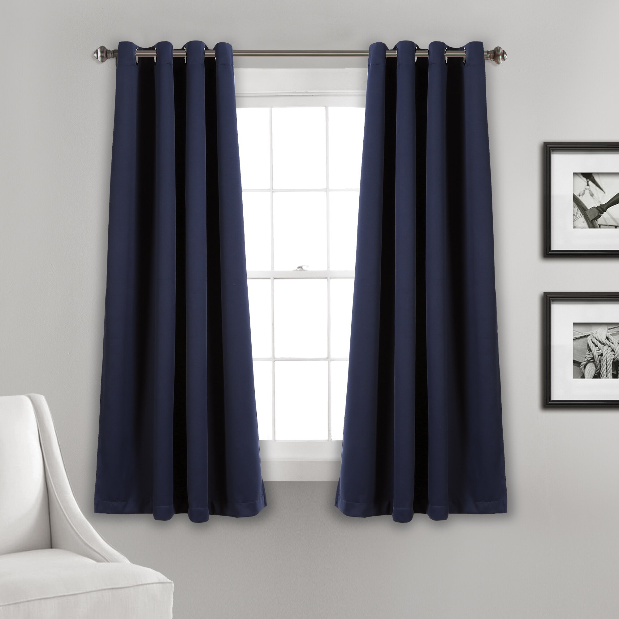 Blue White Curtains Drapes You Ll Love In 2021 Wayfair