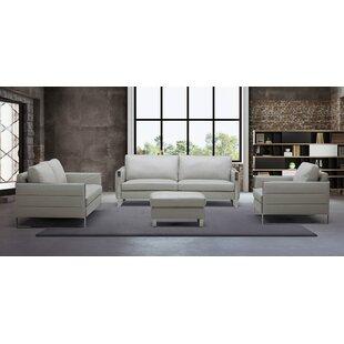 Orren Ellis Hewins Leather Configurable L..