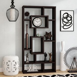 Vaccaro Geometric Bookcase by Brayden Studio
