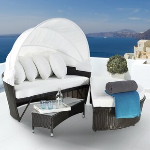Veilleux Patio Daybed with Cushions
