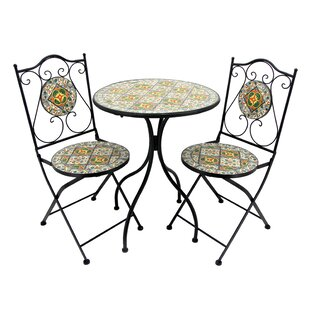 Glasscock 3 Piece Bistro Set by Fleur De Lis Living