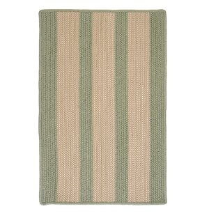 Seal Harbor Olive Indoor/Outdoor Area Rug By Breakwater Bay