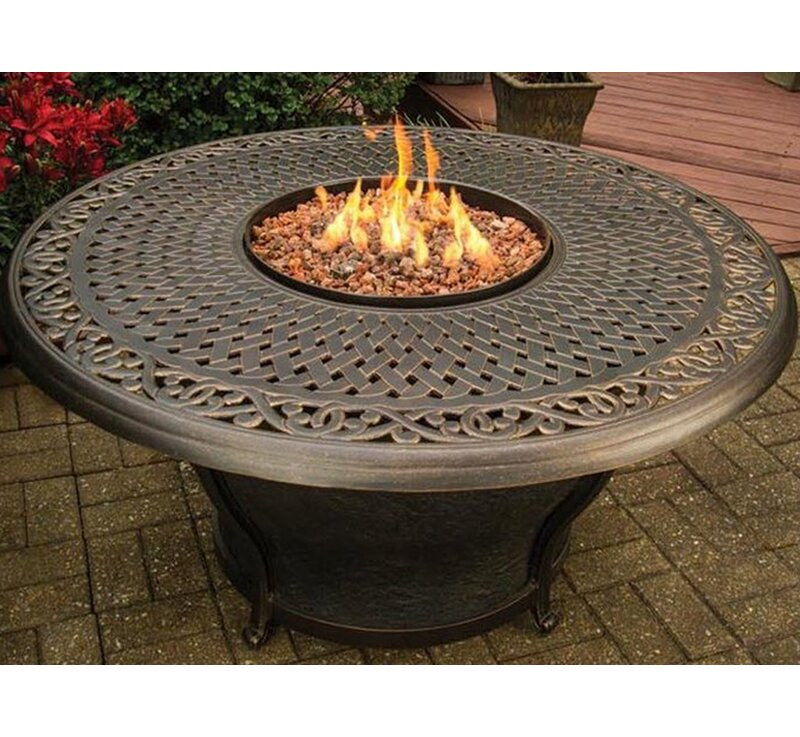 Charleston Aluminum Gas Fire Pit Table