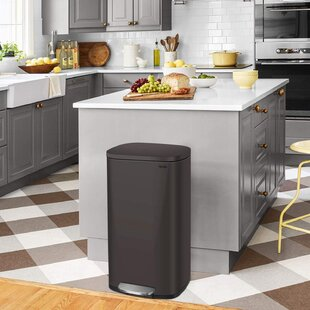 Brown Kitchen Trash Cans Recycling You Ll Love In 2021 Wayfair