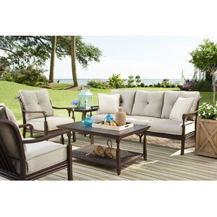 Bade Deep Sunbrella Seating Group with Cushions by Canora Grey