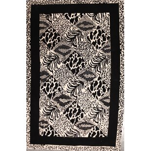 Affordable Price Riverside Drive Zebra Wool Black/White Area Rug By World Menagerie
