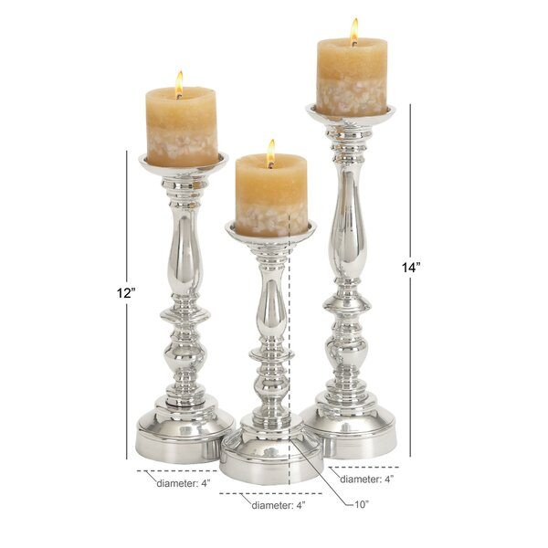 Birch Lane 3 Piece Metal Candlestick Set Reviews Wayfair