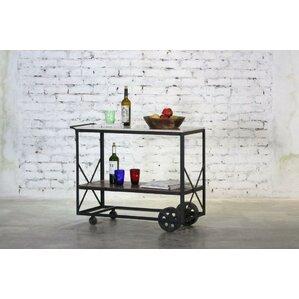 Carleon Marble Top Bar Cart by Gracie Oaks
