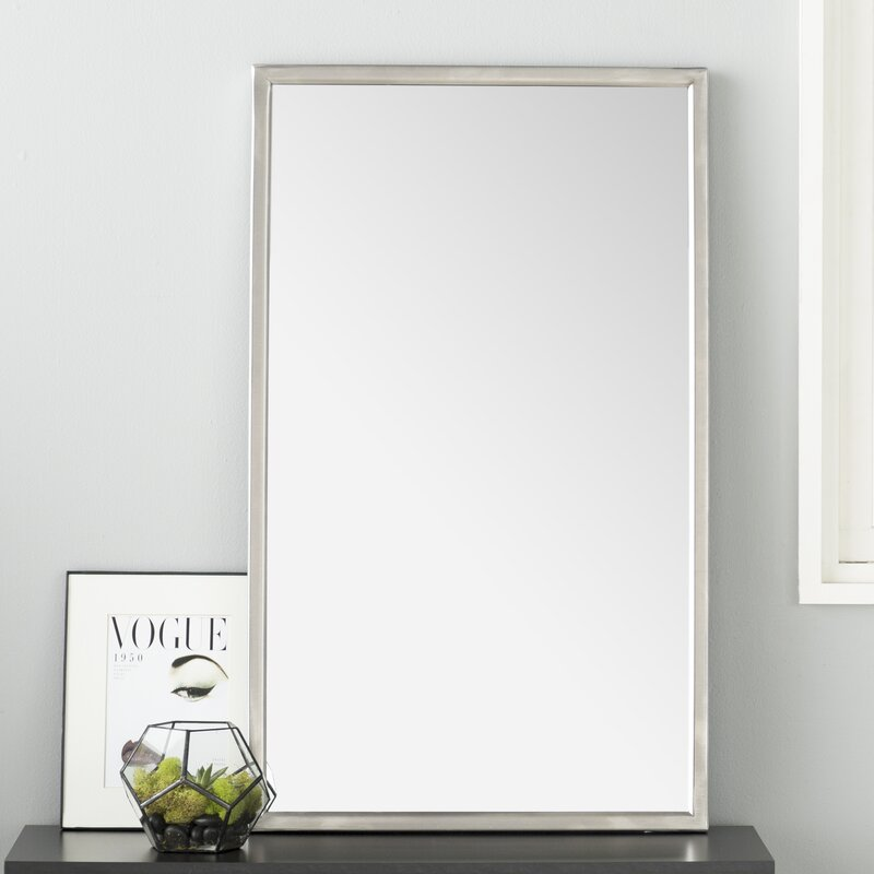 Wade Logan Petrolia Frame Modern Contemporary Wall Mirror Reviews Wayfair