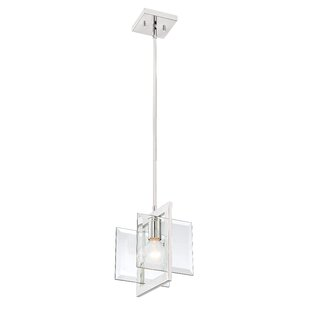Asdsit 1-Light Square Pendant by Orren Ellis