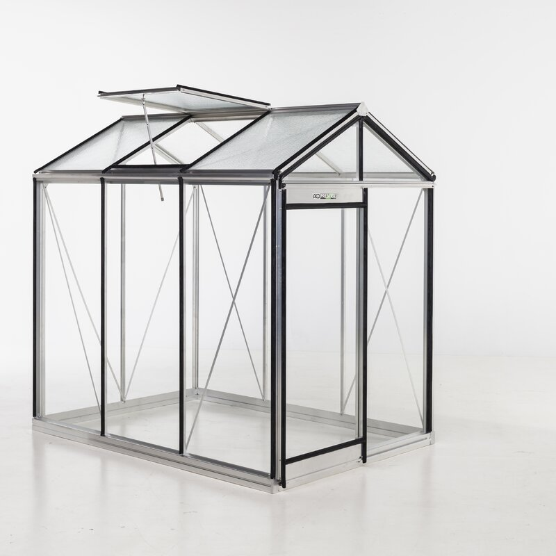ACD Greenhouses Piccolo Glass 7.5 Ft. x 5.5 Ft. Hobby Greenhouse