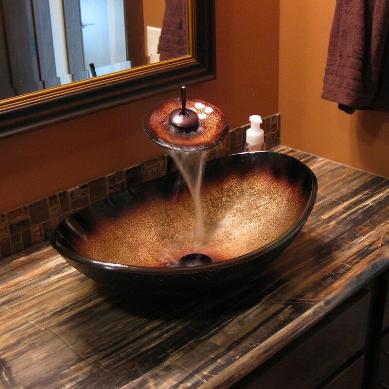 Novatto Rena Glass Oval Vessel Bathroom Sink Amp Reviews