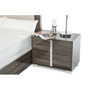 Orren Ellis Demaria 2 Drawer Nightstand