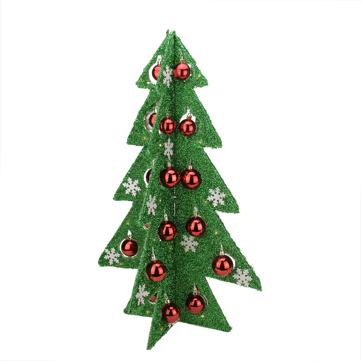 northlight battery operated decorated tinsel led lighted christmas tree table top decoration wayfair