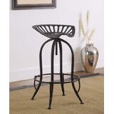 Meghans Adjustable Height Bar Stool by Williston Forge