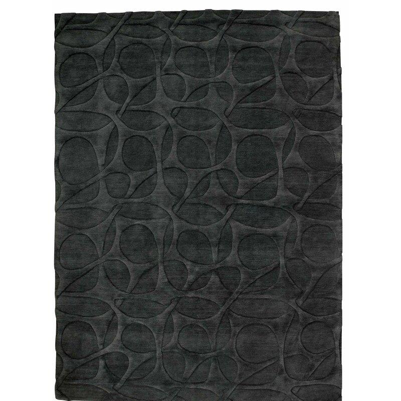 Tufenkian Molecular Geometric Hand Knotted Wool Black Area Rug Wayfair