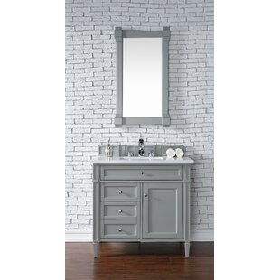 Deleon 36 Single Urban Gray Wood Base Bathroom Vanity Set by Darby Home Co