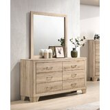 Jaziel 6 Drawer Double Dresser with Mirror by Millwood Pines