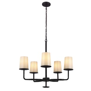Read Reviews Huntley 5-Light Shaded Chandelier By Feiss