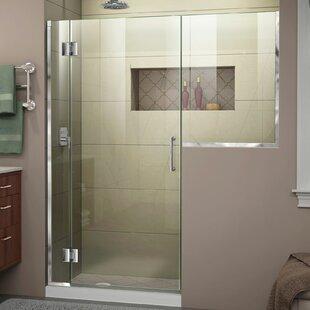 DreamLine Unidoor-X 62-62 1/2 in. W x 72 in. H Frameless Hinged Shower Door