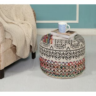 Ladner Recycled Neo-Bohemian Pouf by Bungalow Rose
