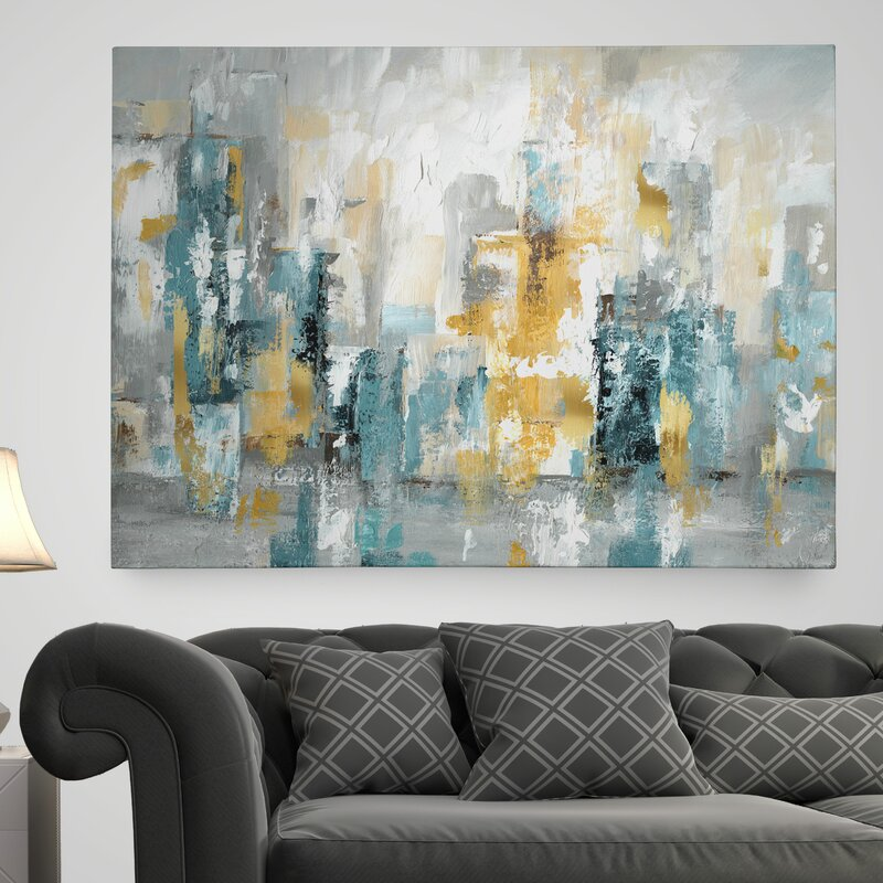 'City Views II' - Wrapped Canvas Painting Print