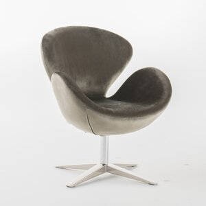 Broaddus Velvet Modern Swivel Armchair by Varick Gallery