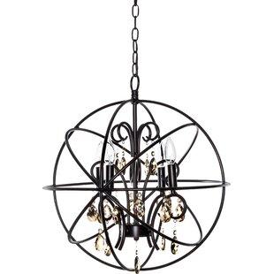 Willa Arlo Interiors Alden 4-Light Globe Chandelier