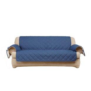 Sure Fit Denim Sherpa T-Cushion Sofa Slipcover