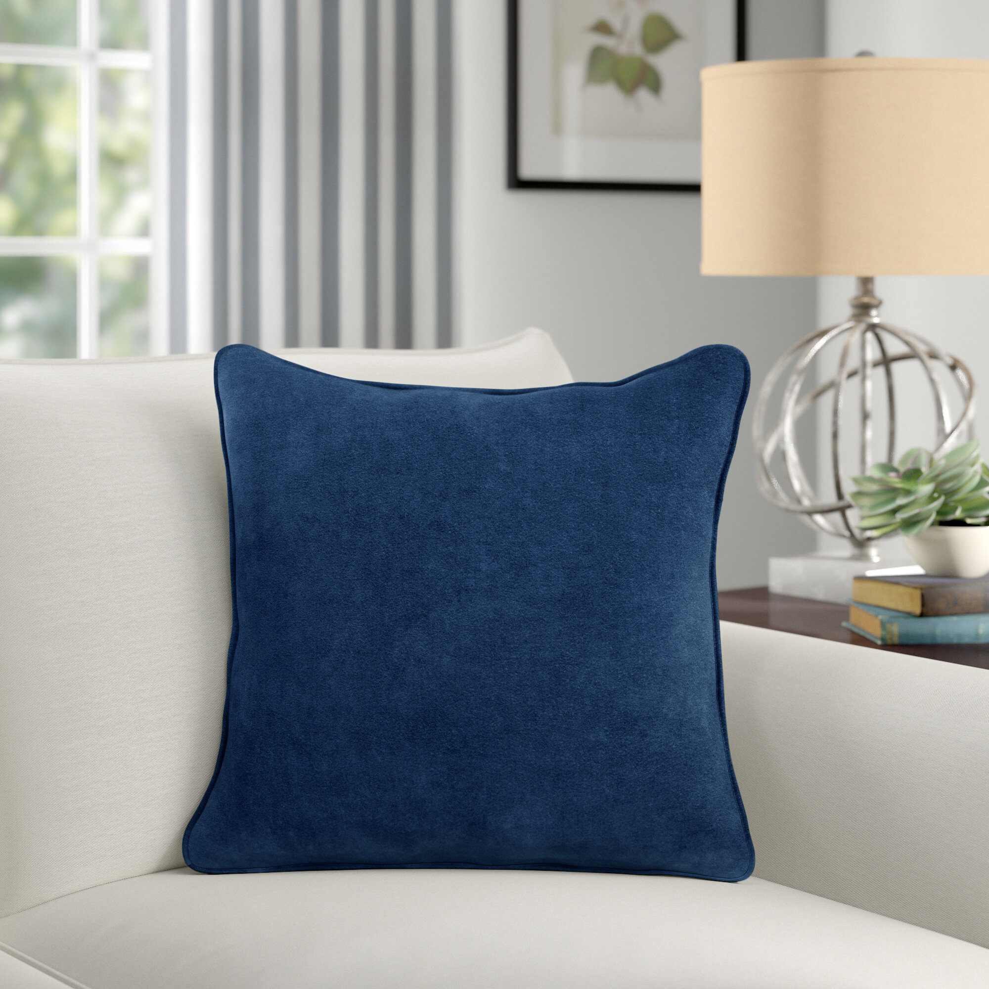 Birch Lane Neppie Square Cotton Pillow Cover Reviews Wayfair