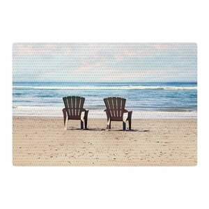 Sylvia Cook A Great View Travel Blue Area Rug