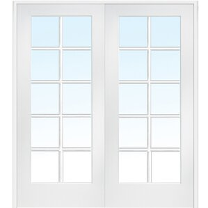 mdf 2panel primed interior french door