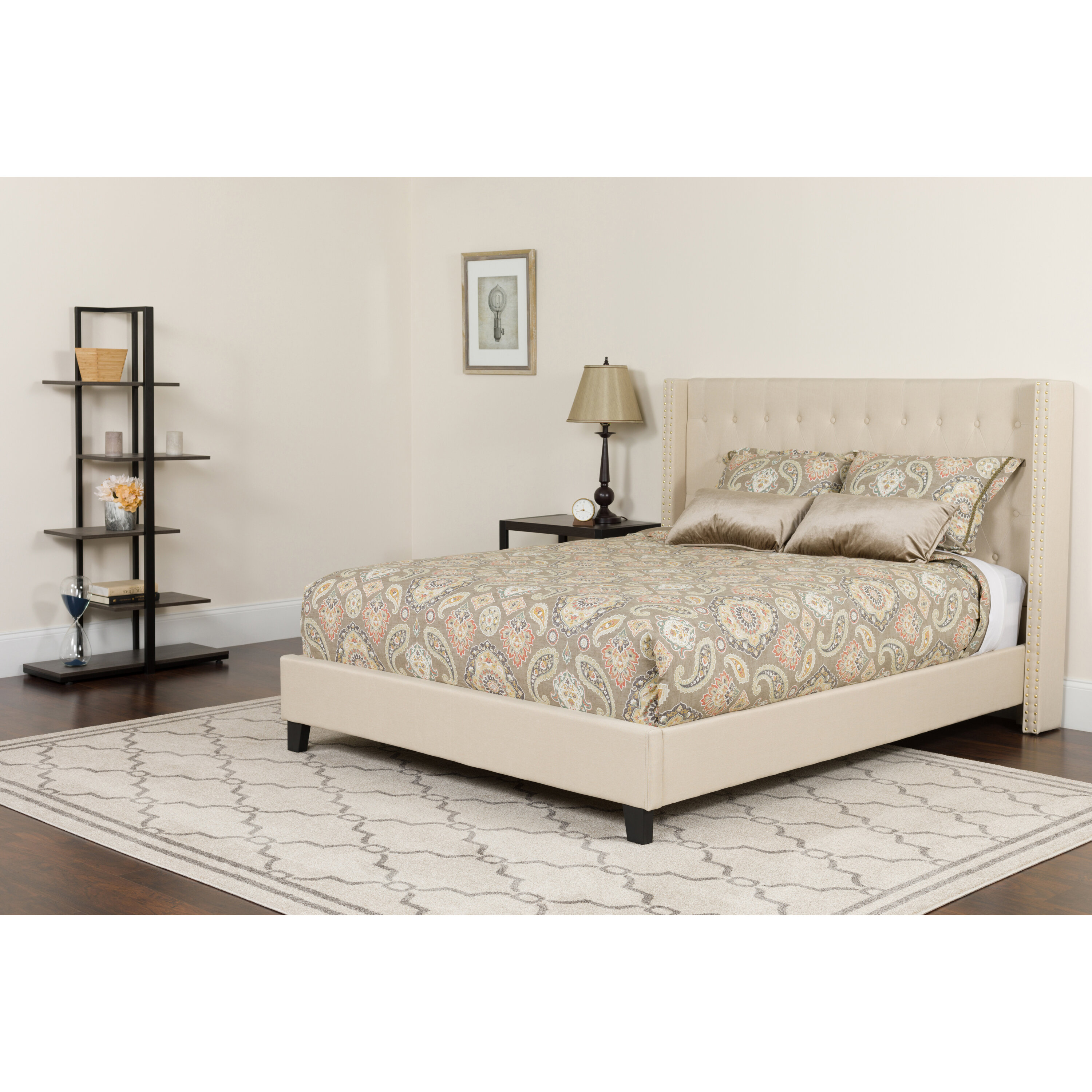 Alcott Hill Konieczny Tufted Upholstered Platform Bed With Mattress Reviews Wayfair
