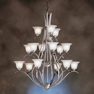 Alcott Hill Cayman 15-Light Shaded Chandelier