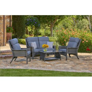 Sycamore 4 Piece Sofa Seating Group with Cushions