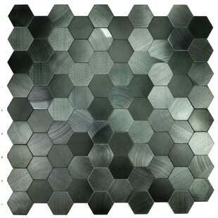 Enchanting Hexagon Wall Backsplash 12 X L And Stick Metal Mosaic Tile In Blue