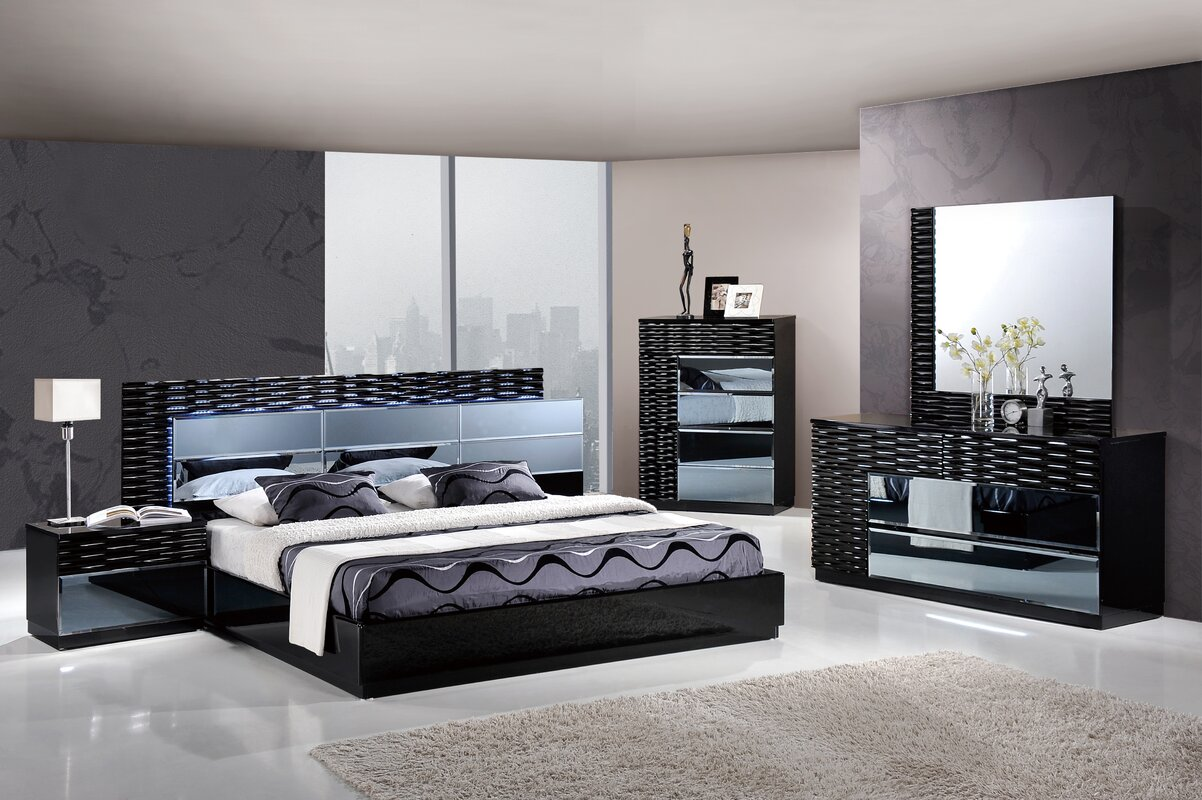 Lovely Manhattan Panel Configurable Bedroom Set