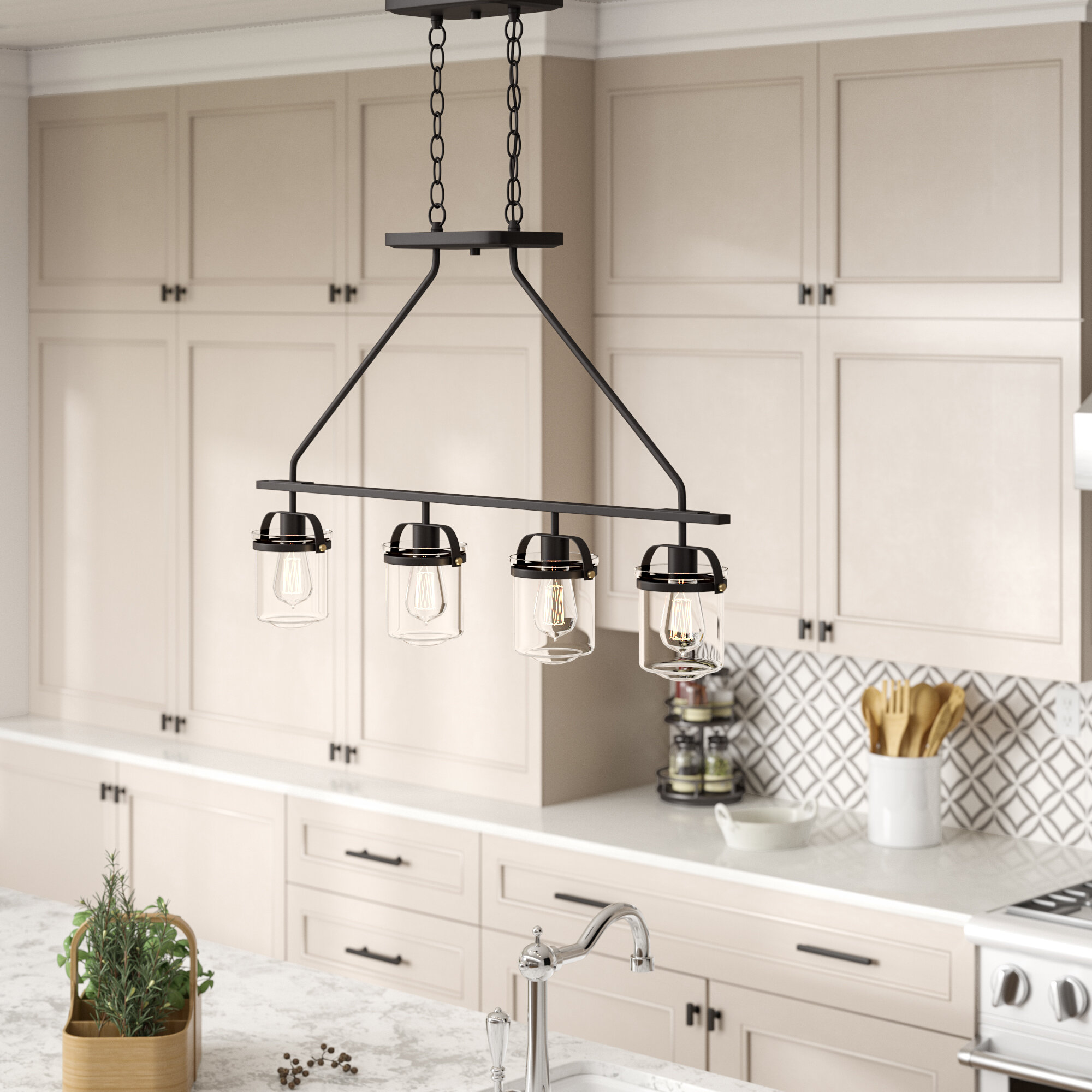 Kitchen Island Sloped Ceiling Adaptable Pendant Lighting You Ll Love In 2020 Wayfair