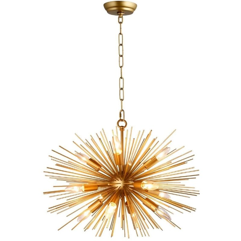 Everly Quinn Baskin 12 Light Sputnik Sphere Chandelier Reviews Wayfair