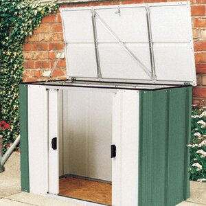 4 ft w x 2 ft d metal garden shed